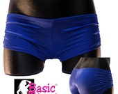 Pole Dancer Fitness Shorts with Gathered Sides for Exotic Dancers