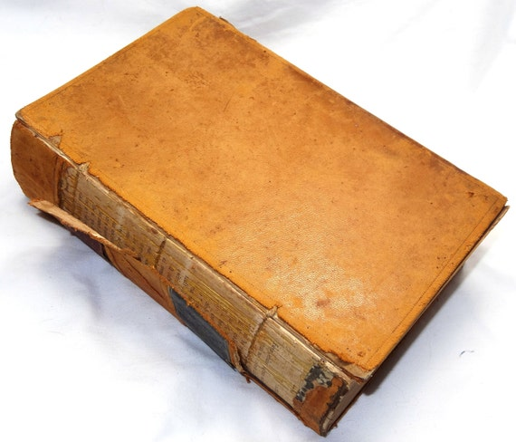 Old Law Book Cover ~ Antique law book american commercial by