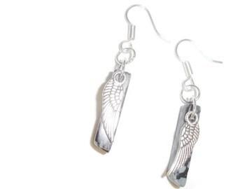 Snow Jasper Wing earrings