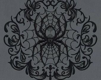 Gothic Gala - Spiderweb fleece blanket