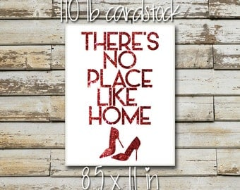 There's No Place Like Home Wizard of Oz Art Print