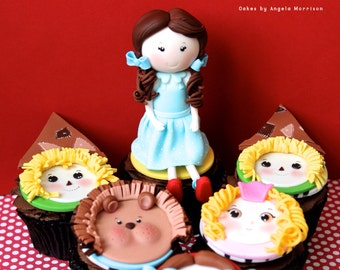 Set of Wizard of Oz cupcake toppers