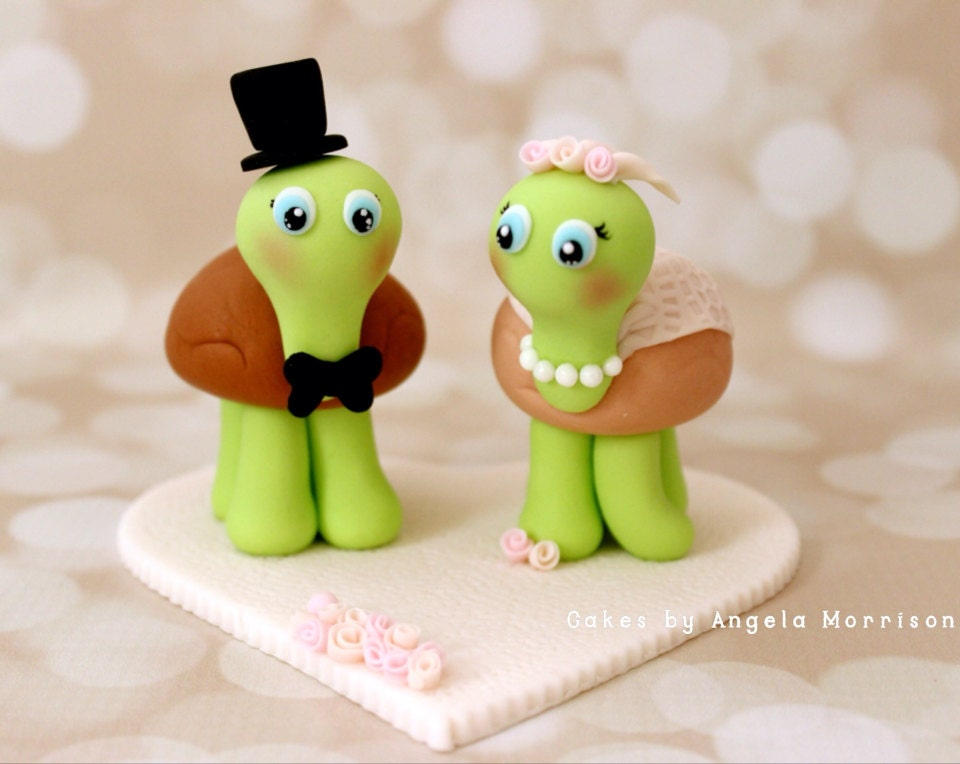 turtle wedding cake toppers turtles wedding cake topper 21320