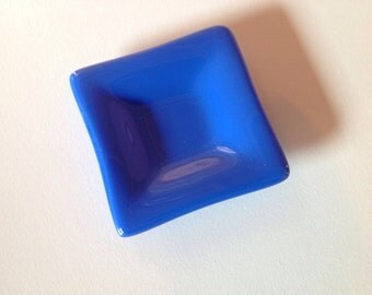 Blue Fused Glass Mini Dish
