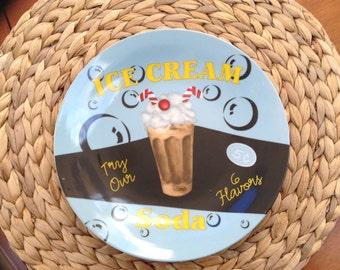 Cute Ice Cream Soda Wall Display Plate