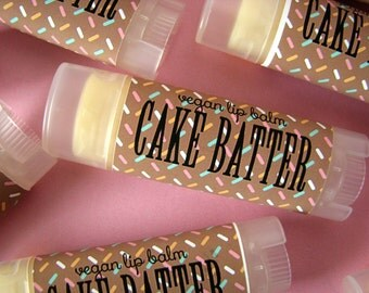 Cake Batter  - Vegan Lip Balm - Natural - Bath and body - Lip Butter -  Dessert flavor - white cake