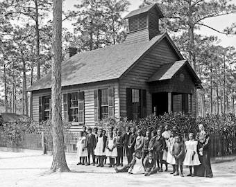 One Room School House,  1904, Summerville, SC, African American School  -Photo Print