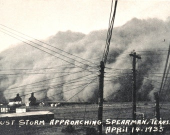 Dust Bowl 1935 - Spearman, Texas- Dust Storm Photo Print