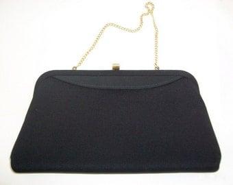 Vintage Purse, Vintage Clutch, Black Purse, Black Clutch, Black Evening Bag, Black Wedding, Wedding Purse Purse For Bride Black & Gold Purse