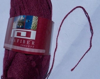 Inca Fiber Superfine Alpaca Yarn, 50 grams, Red