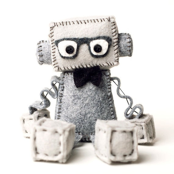 Geeky Robot Plush Toy