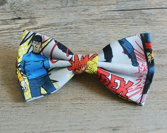 Star Trek, Star Trek Bow, Star Trek Hair Bow, Star Trek Bow, Star Trek Tie, Captain Kirk, Spock, Mens Bow Tie, Kids Bow tie, Toddler Bow