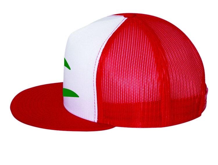 Flat Bill Ash Ketchum Pokemon Trainer Hat By