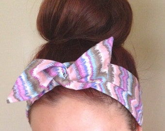 Pastel Cotton Candy Dolly Bow Headband
