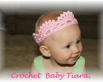Crochet baby tiaras