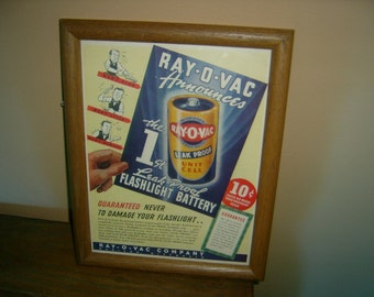 Ray-O-Vac battery advertising picture