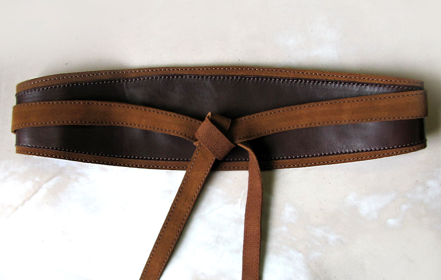 brown leather obi belt brown wide waist belt