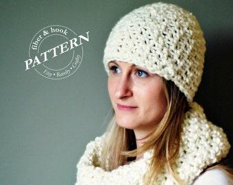 CROCHET PATTERN - Chunky Beanie Pattern, Crochet Beanie Pattern, Chunky Hat Pattern, Easy Crochet (Toddler, Youth, Adult Sizes) pdf #008H
