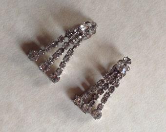Vintage Diamante Drop Earrings