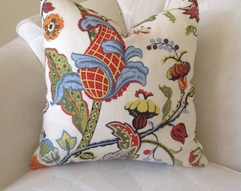 Covington Wilmington Red Floral Pillow Cover