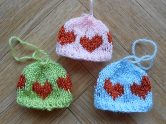 Https Etsy Com Listing 172829900 Knitted Mini Hats Home Decor Knit