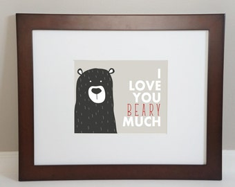 I Love You Beary Much 5x7 Downloadable Print