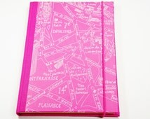 Travel diary, travel diary Paris, Paris, holiday, holiday diary, holiday, memory collection, idea book, diary, pink, Paris1