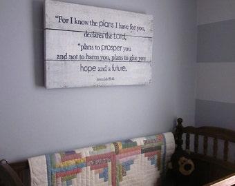 Jeremiah 29:11 - Handpainted Wood Sign