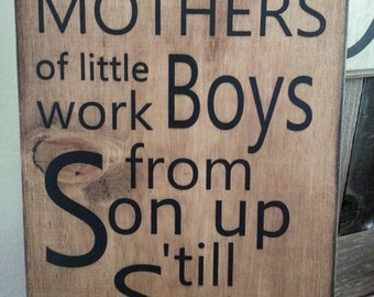 Mothers of little boys