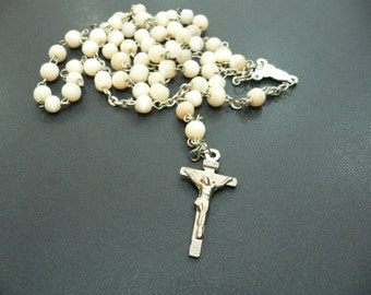 Vintage ROSARY with ceramic beds...(019)