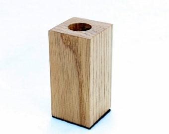 Modern Oak Wine Bottle Stopper Display Stand