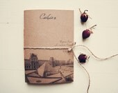 From Paris with love Notebook, Handmade travel notebook, travelers journal