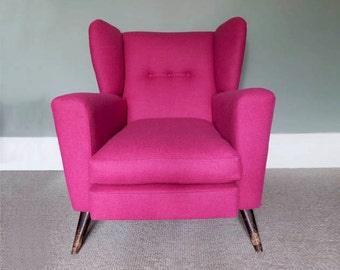 1950's reupholstered armchair