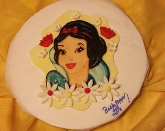 Snow white cake topper.Princess topper . Girls birthday.Snow white hand painted