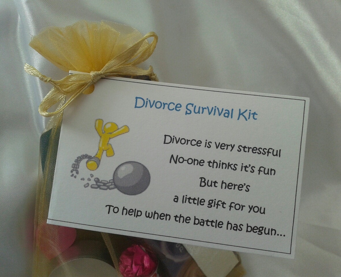 Divorce Survival Kit female gift divorce party by CheerUpCrafts