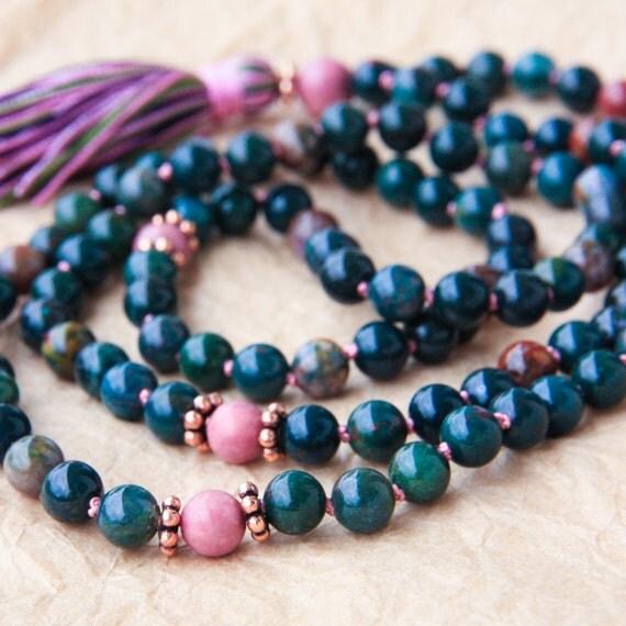 Yoga Beads: Hand Knotted Mala Beads Meditation Mala Tibetan Prayer