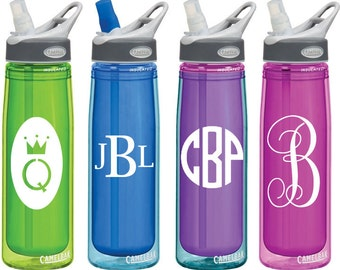 Monogram Decals for Personalized Water Bottles or Tumblers 2x3