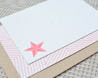 Texas Star Double-Sided Flat Notecards