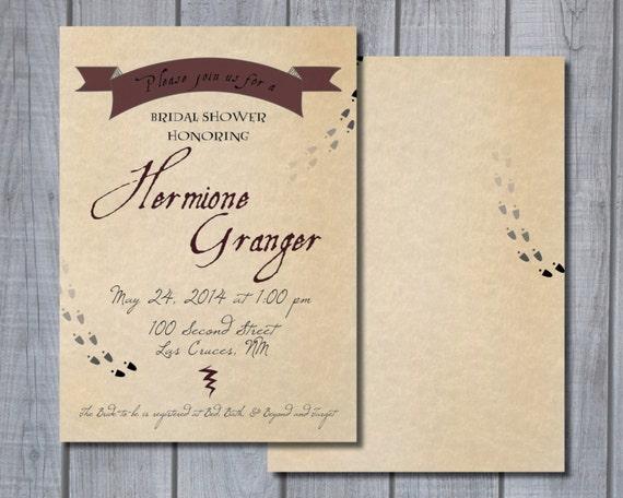 Printable Harry Potter-themed Bridal Shower/Baby Shower by TarranJohnsonDesign | Etsy
