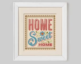 Items similar to Pink Ombre Home Sweet Home Cross Stitch Kit on Etsy