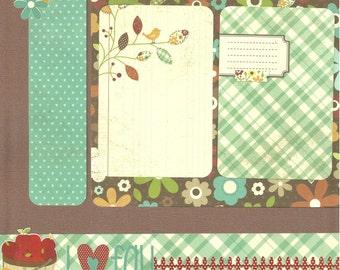 I Heart Fall - 2 page Scrapbooking Layout Kit