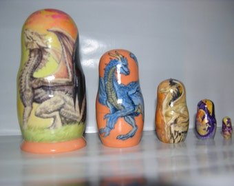 Dragons nesting doll