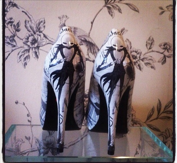 The nightmare before christmas high heels by cherrybombbtq on etsy