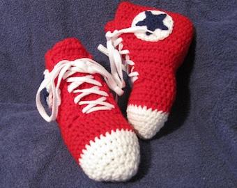 High Top Chuck Taylor Converse Crochet Slippers - Teen/Women/Mens