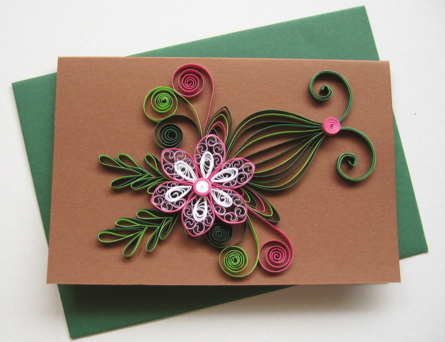 quilled birthday card handmade paper greeting card