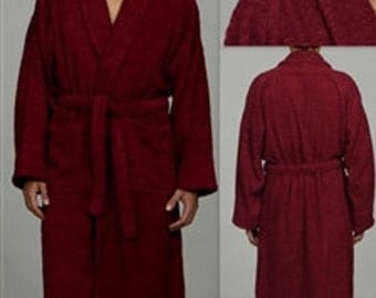 Burgundy Egyptian Cotton Bath Robe Personalized  Bathrobe Monogrammed Initials