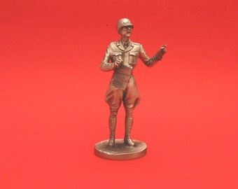 Major General Alexander M. Patch World War II  Pewter 75mm Figurine World War 2 Allied Leader Collectible Model