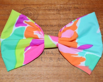 LuLu Lilly Pulitzer Hair Bow, lilly hair bow, girls hair bow, hair bow for women or girls, preppy hair bow