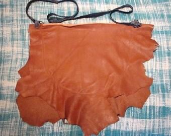 Virgin brown leather bag