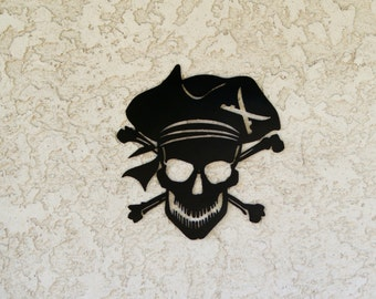 Metal Pirate sign - Pirate sign
